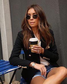 rozalia_russian Coffee runs in my new blazer Professional Look, Hair Inspo, Pilot, What To Wear, Sunglasses Women, Blazer, Running, Outfits, Instagram