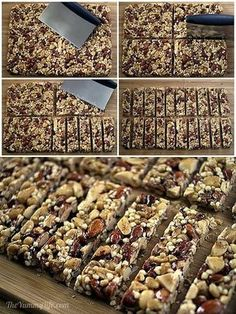 Homemade KIND Bars Copycat recipes for 8 popular varieties of these high protein, energy, & nutritional nut bars