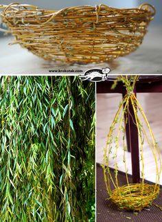 how to weave a willow basket  http://krokotak.com/2013/05/how-to-weave-a-willow-basket/
