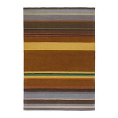 STOCKHOLM Rug, low pile - IKEA.  loving the retro colors in this and the asymmetry of it.
