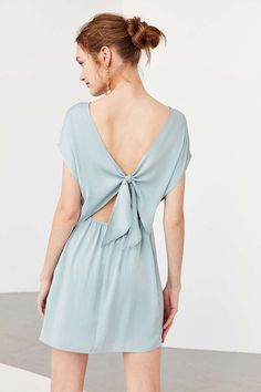 Kimchi Blue Silky Tie-Back Shift Dress by Urban Outfitters