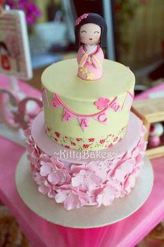 Kokeshi Doll Cake  Cake by Ling KittyBakes