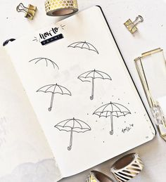 A list of 40 easy drawing ideas for beginners looking to fill up that empty page with beautiful doodles of your own! Bullet Journal Banner, Bullet Journal Aesthetic, Bullet Journal Notebook, Bullet Journal Ideas Pages, Bullet Journal Inspiration, Doodle Art For Beginners, Easy Doodle Art, How To Doodle, Simple Doodles