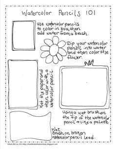 Watercolor Pencils 101 Tutorial Prinatable @handbookofnaturestudy.com