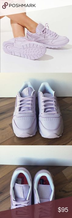 Lavender Reebok Classics -- US 6.5 Limited Edition Reebok x FACE Stockholm Classic Leather Sneakers in Lavender. Size 6.5  Brand new, never worn. Still has the product tag on the insole.  *Box not included* Urban Outfitters Shoes Sneakers