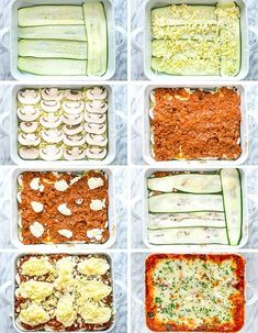 This Zucchini Lasagna is low fat gluten-free Keto friendly ridiculously delicious and only 368 calories This lasagna uses zucchini in place of pasta thereby reducing calories Guilt free lasagna zucchinilasagna lowcarb keto Low Carb Recipes, Diet Recipes, Vegetarian Recipes, Cooking Recipes, Healthy Recipes, Eat Healthy, Thai Recipes, Healthy Low Carb Breakfast, Diet Dinner Recipes