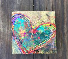 abstract heart painting - Google Search