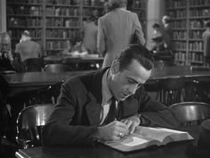 The Big Sleep starring Humphrey Bogart - Libraries helped him crack the case
