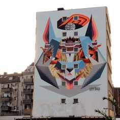 Low Bros in Cologne, Germany for the CityLeaks Street Art Festival.