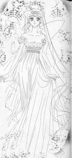 """Neo-Queen Serenity from """"Sailor Moon"""" manga series by Naoko Takeuchi Serena Sailor Moon, Sailor Moon Manga, Sailor Neptune, Sailor Moon Art, Sailor Jupiter, Sailor Moon Crystal, Neo Queen Serenity, Princess Serenity, Sailor Princess"""