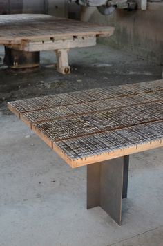 Alcarol turns damaged marble-cutting worktops into resin-coated tables.