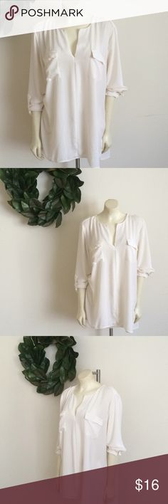 Maurices Sheer Cream Blouse Maurices Sheer Blouse.  Only worn once, and in great condition.  XXL in Cream. Maurices Tops Blouses