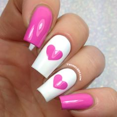 Enjoy FREE worldwide shipping on nail vinyls! Twinkled T carries the largest selection of nail vinyls in the world. All Twinkled T Nail Vinyls are handmade in Los Angeles, California with the highest quality vinyl and care! Little Girl Nails, Girls Nails, Pink Nails, Girls Nail Designs, Heart Nail Designs, Nail Designs With Hearts, Nail Swag, Best Acrylic Nails, Acrylic Nail Designs