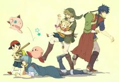 Mentors: Marth and Ness, Link and Lucas, Ike and Toon Link, Kirby and Jigglypuff