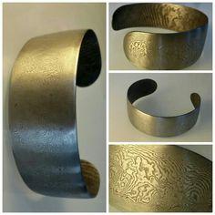 JVO// Geschmiedeter Armreif - Damast /damascus steel bracelet