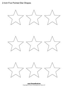 Pointed Star  Crafts    Star Template Template And Star