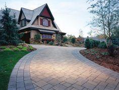 Black Diamond Paver Stones & Landscape recently installed this Belgard driveway.