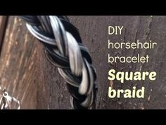 Jeweleeches: how to make a 4 strand round braid with horsehair! TUTORIAL - YouTube Horse Hair Bracelet, Horse Hair Jewelry, Cowgirl Jewelry, Gothic Jewelry, Metal Jewelry, Jewlery, Jewelry Necklaces, Equestrian Jewelry, 4 Strand Round Braid