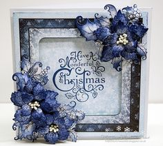 this weeks challenge is chosen by Rachel and I have turned to my favorite poinsettia stamps and dies made using the heartfelt creatio. Christmas Card Crafts, Homemade Christmas Cards, Christmas Flowers, Merry Christmas Card, Christmas Cards To Make, Xmas Cards, Handmade Christmas, Homemade Cards, Holiday Cards