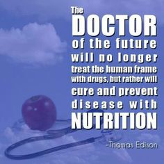 The doctor of the future will no longer treat the human frame with drugs, but rather will cure and prevent disease with nutrition. Health Facts, Health And Nutrition, Health And Wellness, Health Fitness, Medical Care, Massage Therapy, Physical Therapy, Get Healthy, Natural Health