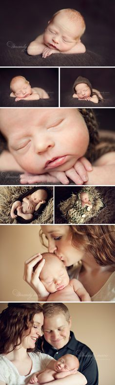 Mandy Marie Photography |des moines newborn photographer| newborn boy with parents