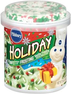 Holiday Frosting - Top your cakes, cookies and desserts with Pillsbury® Funfetti® Holiday Frosting. Vanilla Frosting, Vanilla Flavoring, Icing, Cupcake Bath Bombs, Disney Coffee Mugs, Funfetti Cake, Ben And Jerrys, Cafe Food, Easter Cookies