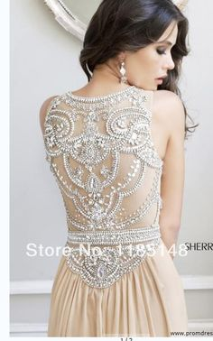 Aliexpress.com : Buy Sexy High Neck See Through Beaded Prom ...