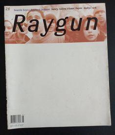 RAYGUN Magazine nr 26 May 1995 ft Beastie Boys Luscious   Etsy Robert Hale, Isaac Hayes, Henry Rollins, David Carson, Beastie Boys, Found Art, Typographic Design, Radiohead, Abstract Styles