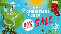 Nu rata evenimentul Christmas in July! Minim 50% la mii de produse.  Cumpara prin CashBack Shopping si primesti pana la 3.5% bani inapoi! #elefant #reduceri #cashback #baniinapoi #primestibani #banilacumparaturi #cumparionline #cumparaturionline #cashbackshopping