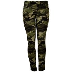 626 Denim Camouflage Skinny Jeans for Women ($23) ❤ liked on Polyvore
