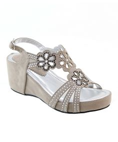 Look at this Bone Stud Flowers Sandal by Summer Rio Sock Shoes, Cute Shoes, Me Too Shoes, Shoe Boots, Shoes Heels Wedges, Shoes Sandals, Oxford Boots, Rhinestone Sandals, Dress And Heels