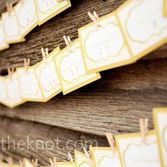Yellow Escort Cards