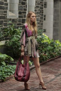 gossip girl - serena tunic - think it might be DVF