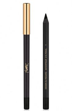 Yves Saint Laurent Dessin Du Regard Waterproof Eyeliner Pencil - 01 Black #SimpleEyeliner