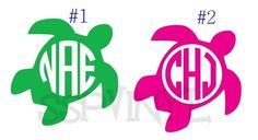 Personalized Sea Turtle Circle Monogram Vinyl Decal Cricut Monogram Font, Circle Monogram, Vinyls, Monograms, Farms, Vinyl Decals, Turtle, Silhouette, Sea