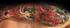 Koi Dragon Tattoo Designs For Men