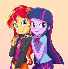 twilight sparkle and sunset shimmer - Google Search