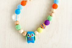 Colorful Nursing necklace Teething necklace toy with by kangarusha,