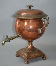 19th Century Brass And Copper Samovar