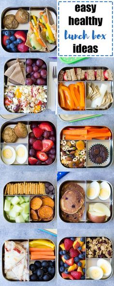 EASY, Healthy Lunch Ideas for Kids! Bento box lunchbox ideas to pack for school, home, or even for yourself for work! Make packing lunches quick and easy!