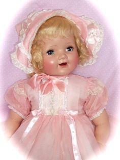 """1950's 25"""" Mama Doll in Original Costume - maker unknown"""