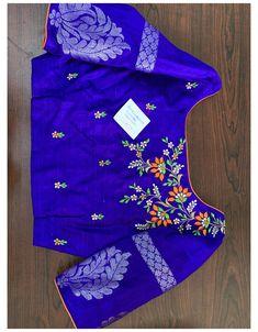 Cutwork Blouse Designs, New Saree Blouse Designs, Kids Blouse Designs, Hand Work Blouse Design, Simple Blouse Designs, Stylish Blouse Design, Sari Blouse, Sari Silk, Silk Sarees