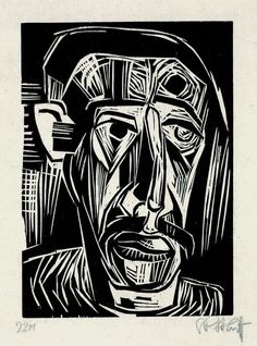 Karl Schmidt-Rottluff, woodcut (1922)
