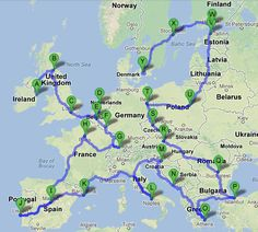 Backpack Europe in 3 Months -- not quite my plan, but can definitely learn from the budgeting and the routes!