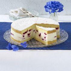 Marmorierte Käse-Sahne-Torte Rezept