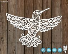 Hummingbird Svg cut file, Bird Svg, Hummingbirds Svg, Flying bird svg, Mandala Svg| Svg Papercut Template | Bird Silhouette | Cricut, Cameo Silhouette. Home Decor For personal and commercial use. Original design in SVG, PNG, PDF, EPS formats.