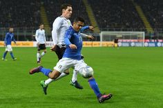 Eder of Italy in action during the International Friendly Match between Italy and Germany at Giuseppe Meazza Stadium on November 15, 2016 in Milan, .