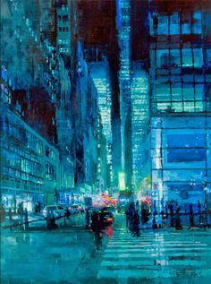 7 Brooding Cityscapes Painted with Oils by Jeremy Mann