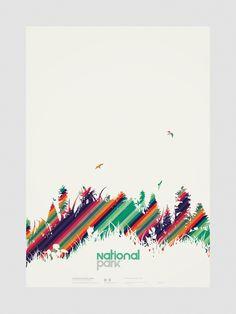 national parks #poster