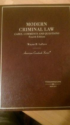 Modern Criminal Law by Wayne R Lafave #Textbook
